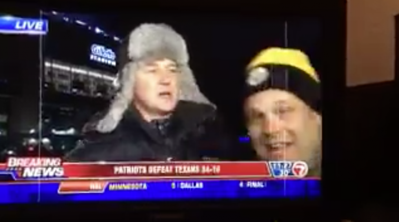 Patriots-Steelers: Reporter shoves Pittsburgh fan (VIDEO)
