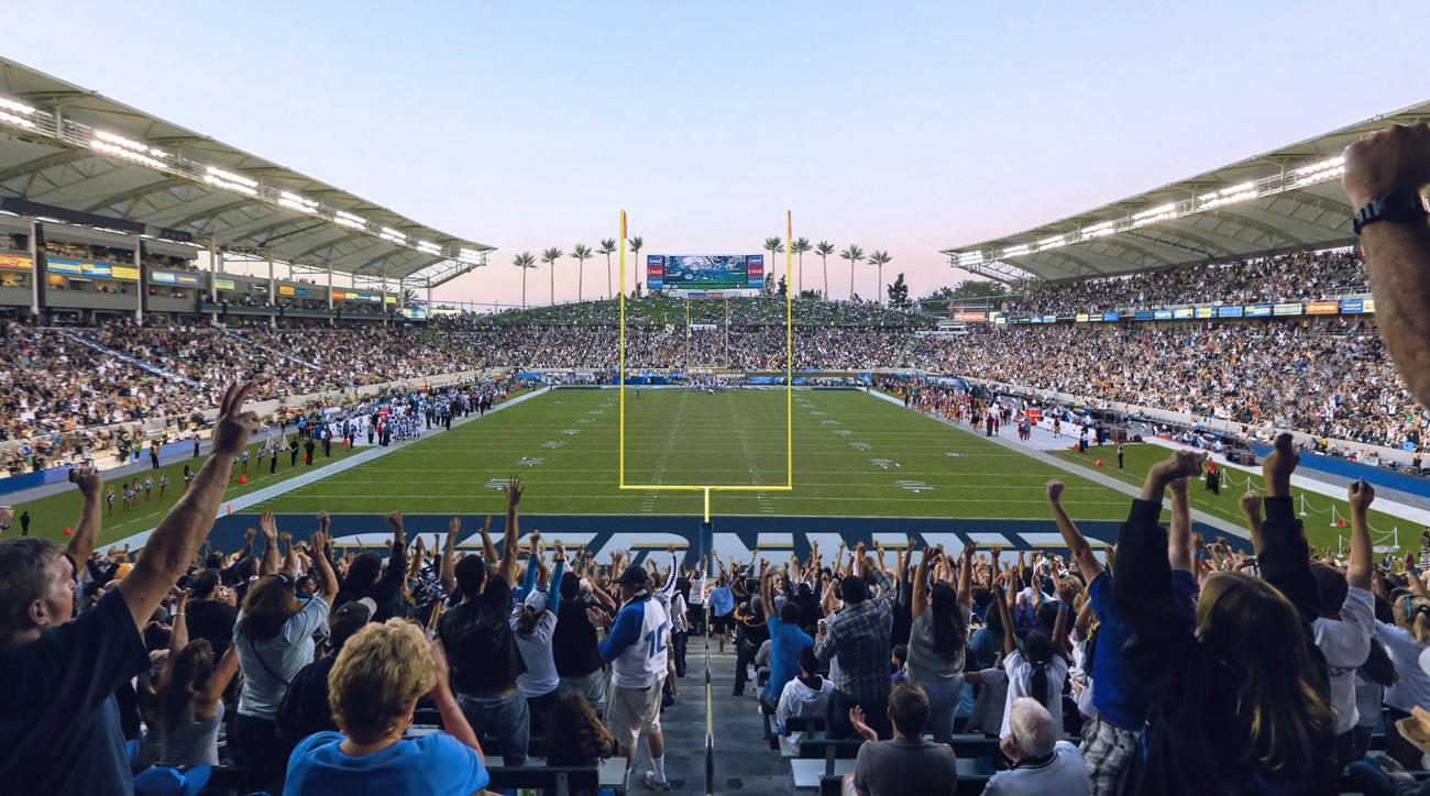 The San Diego Chargers will play at StubHub Center