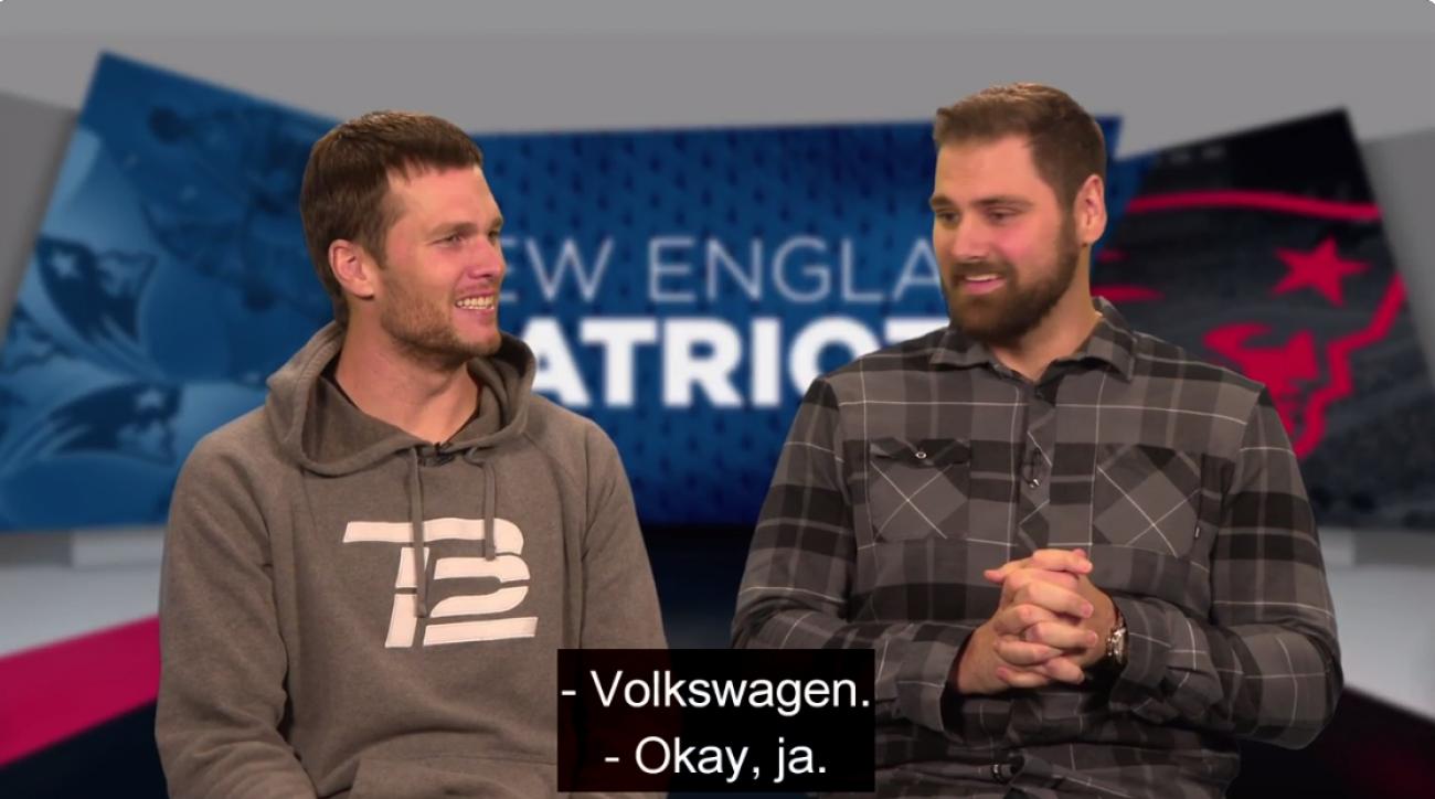 Patriots' Tom Brady tries to speak German (video)