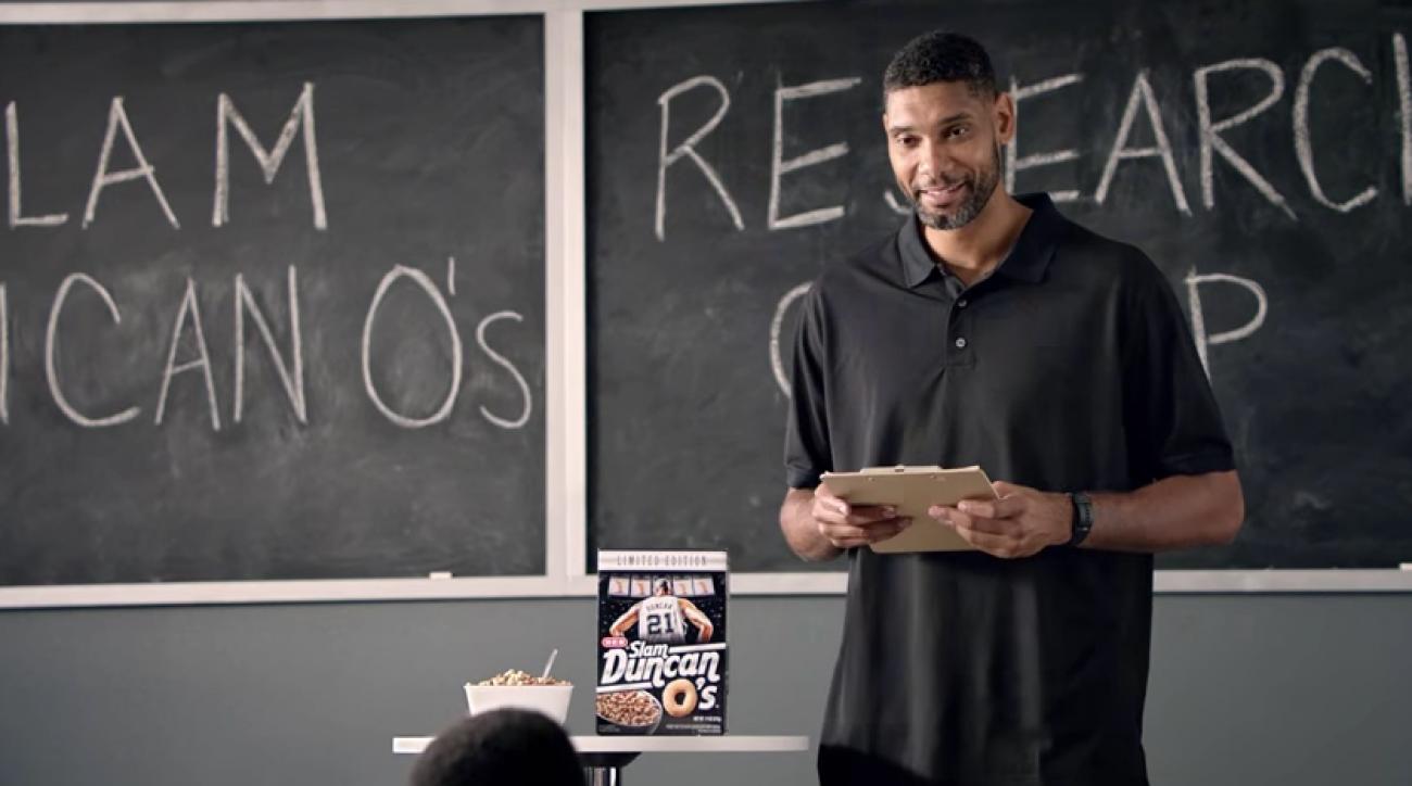 San Antonio Spurs: Tim Duncan cereal looks boring