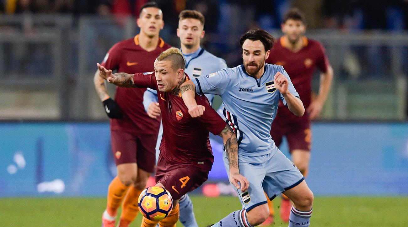 Radja Nainggolan scores a great goal for Roma