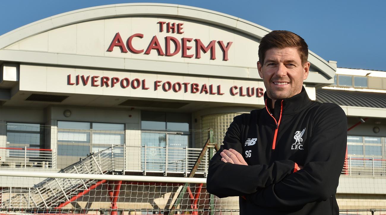 Steven Gerrard is back at Liverpool as an academy coach
