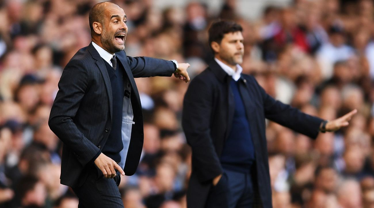 Pep Guardiola and Manchester City meet Mauricio Pochettino and Tottenham for a second time