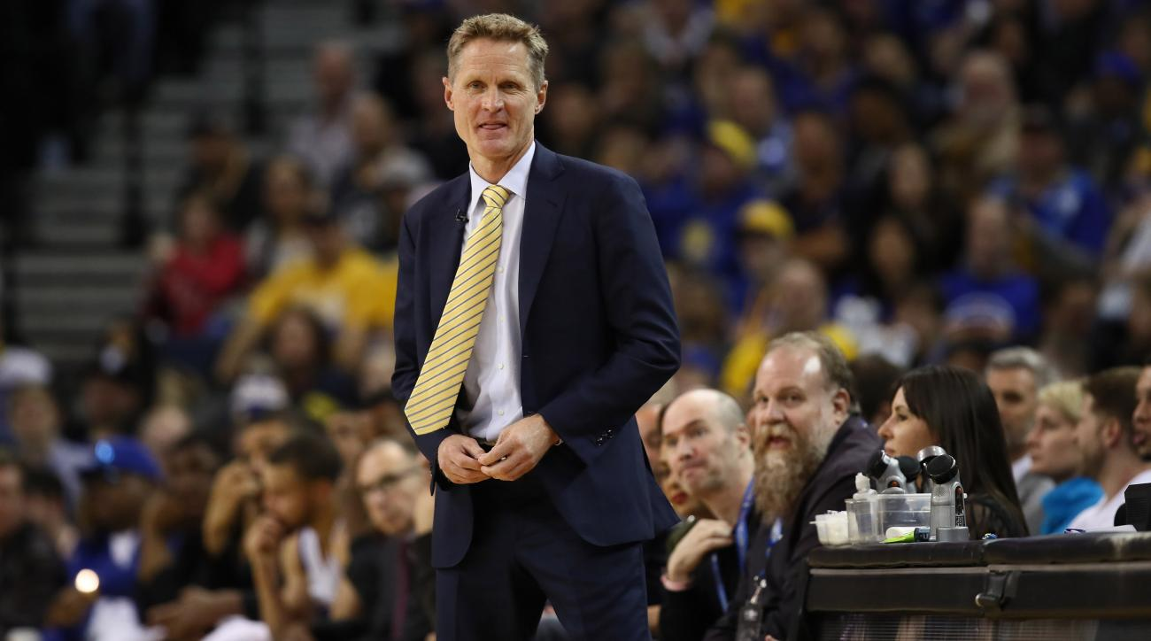 Warriors' Steve Kerr jokes about Sean Spicer (video)