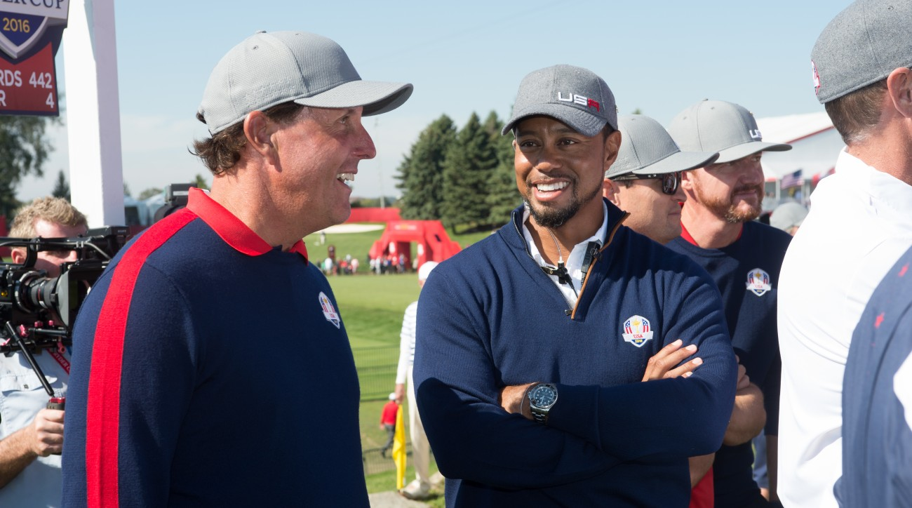 Mickelson says that being around the new 'approachable, engaging' Woods has been 'really fulfilling.'