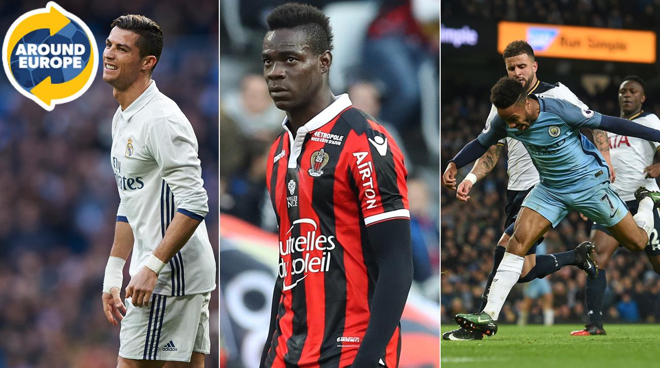 Cristiano Ronaldo, Mario Balotelli and Raheem Sterling made the headlines Around Europe over the weekend