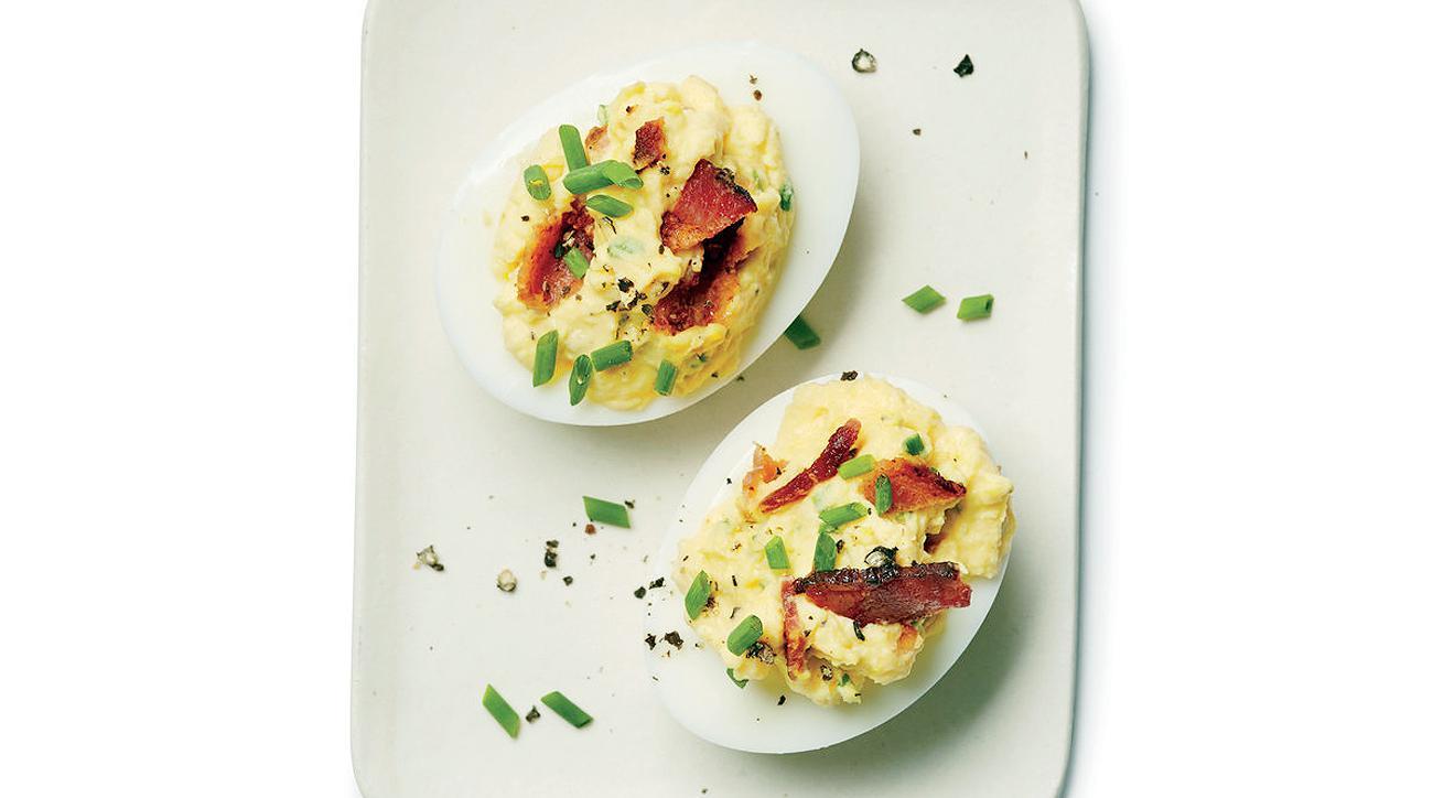 Bacon-Horseradish Deviled Eggs