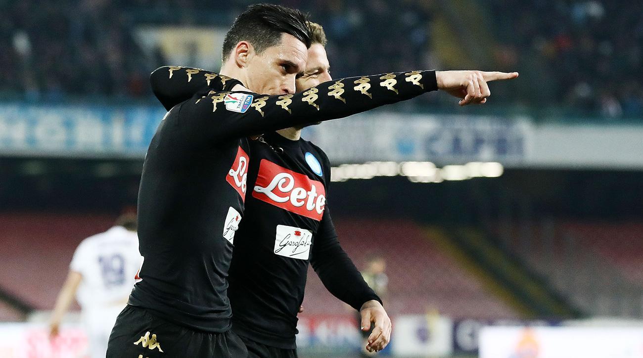 Napoli beats Fiorentina to reach the Coppa Italia semifinals