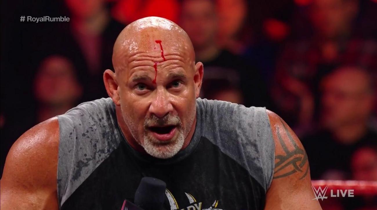 WWE Raw: Reason behind Goldberg's bloody head (video)
