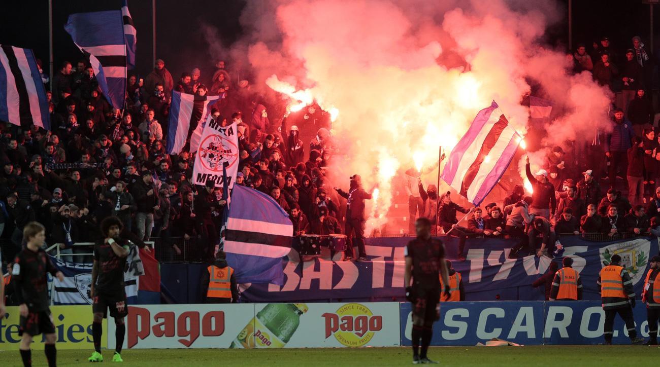 Bastia fans racially abused Mario Balotelli