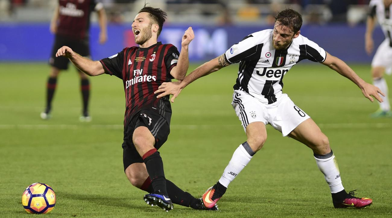 Juventus plays AC Milan in the quarterfinal of the Coppa Italia.