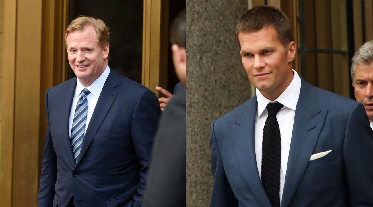 Roger Goodell on handing Super Bowl trophy to Tom Brady
