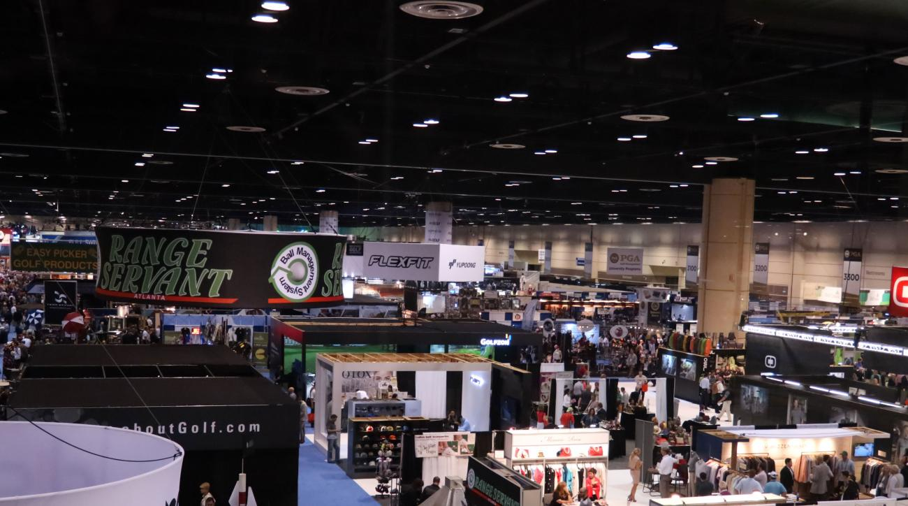 A birds-eye view of the show floor.