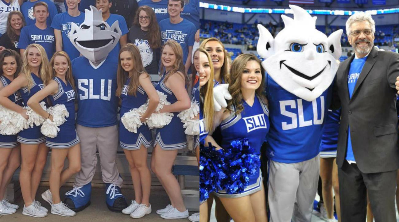 Saint Louis University redesigned Billiken mascot