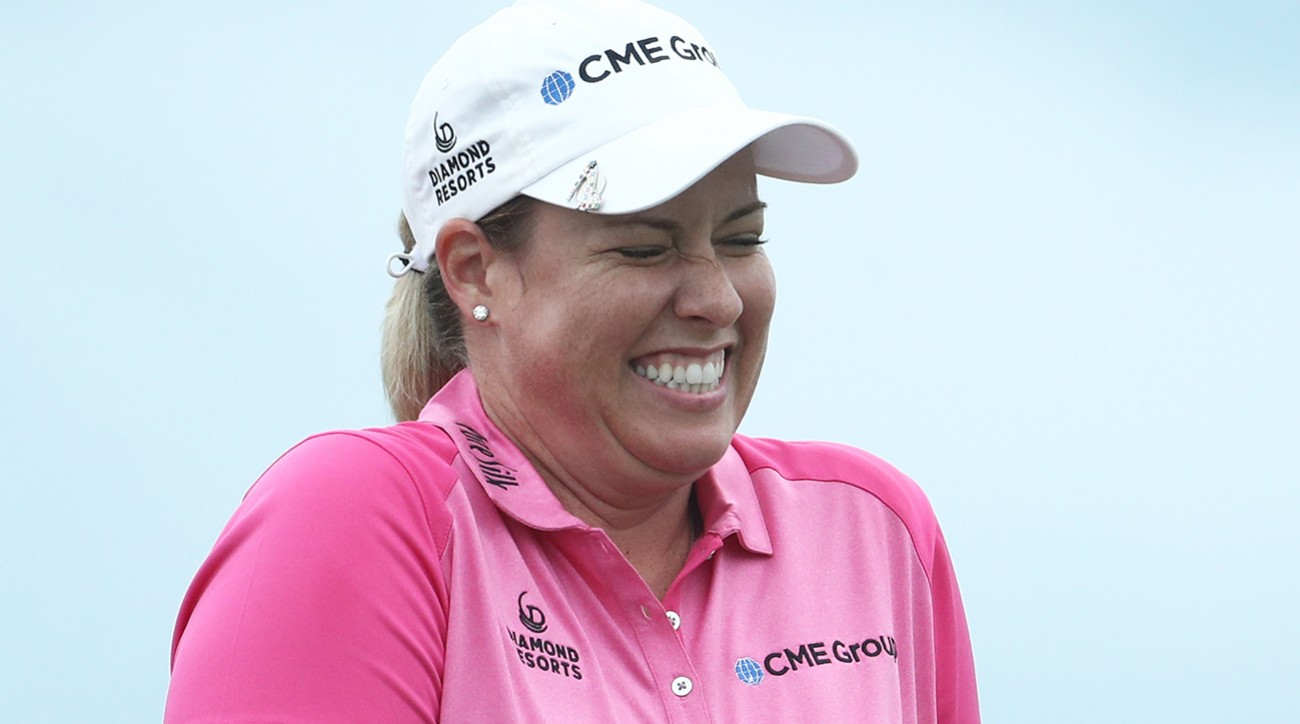 Brittany Lincicome reacts after winning the Pure Silk Bahamas LPGA Classic on Sunday.