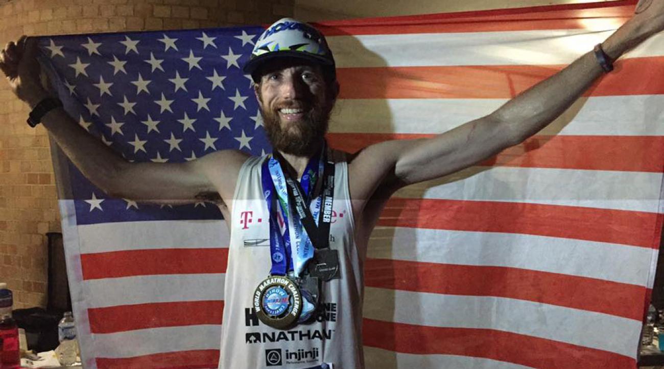 Michael Wardian breaks World Marathon Challenge record