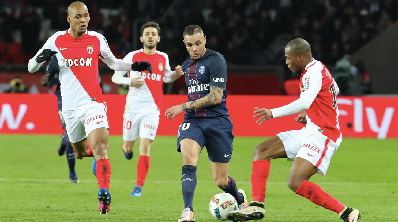 Monaco, PSG play to a thrilling 1-1 draw