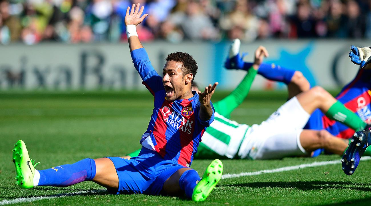 Neymar and Barcelona were wrongly denied a goal vs. Real Betis
