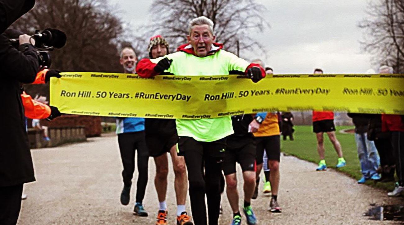 ron hill daily running streak ends