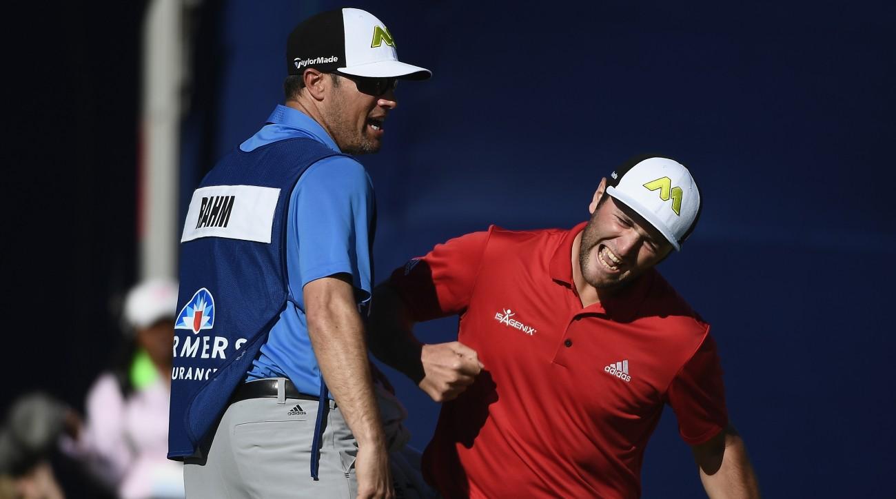 Jon Rahm's first PGA Tour win followed a back-nine 30 at Torrey Pines.