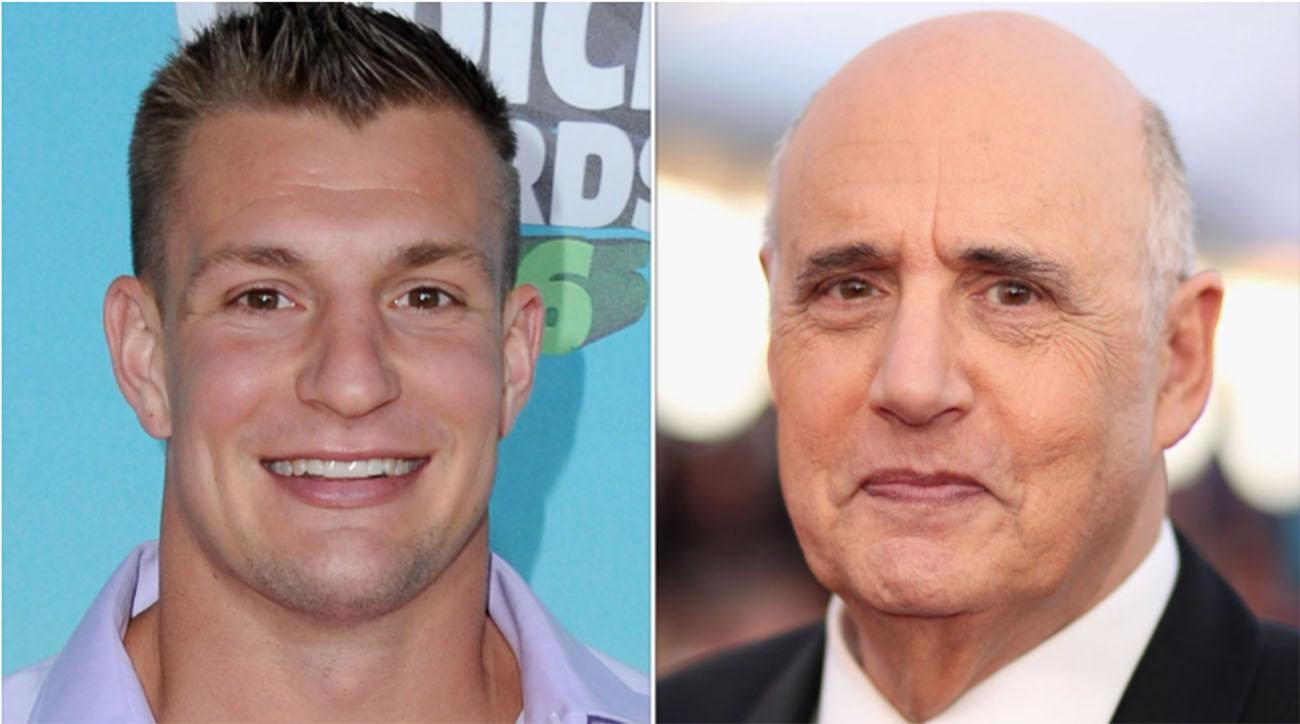 Rob Gronkowski and Jeffrey Tambor appear in Tide's Super Bowl ad.