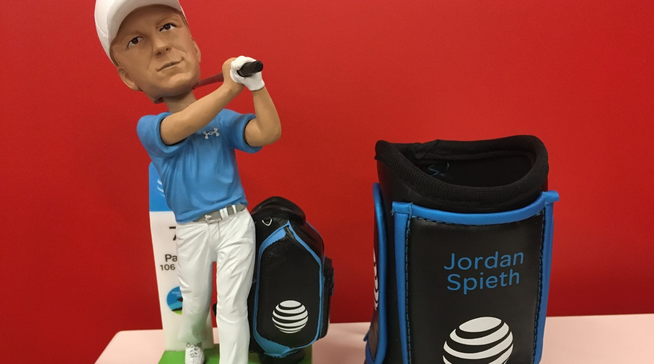 Lucky fans at the AT&T Pebble Beach Pro-Am will have a chance to take home their very own Spieth-inspired beverage koozie.