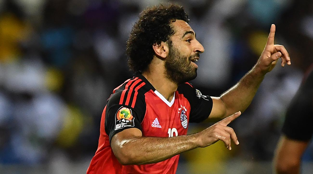 Mohamed Salah scores for Egypt vs. Burkina Faso in the Africa Cup of Nations semifinals