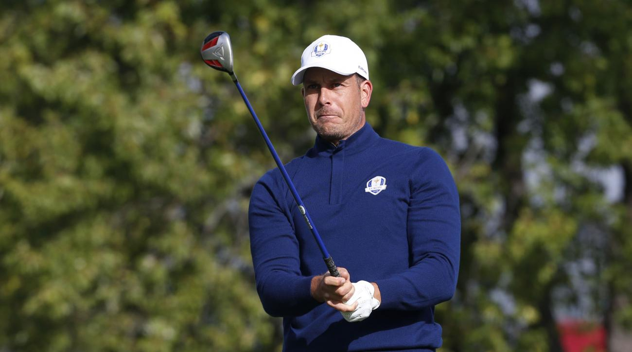 Henrik Stenson playing his trusty Callaway Diablo 3 wood at the 2016 Ryder Cup.