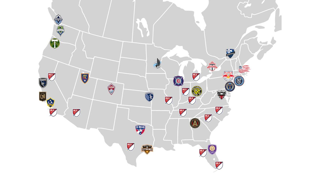 MLS Expansion Indepth Look At All Cities Bids For Growth To - Map of us baseball teams