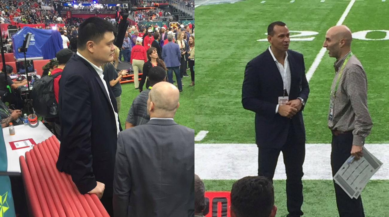 Celebrities at Super Bowl: A-Rod, Yao Ming, 2 Chainz, more