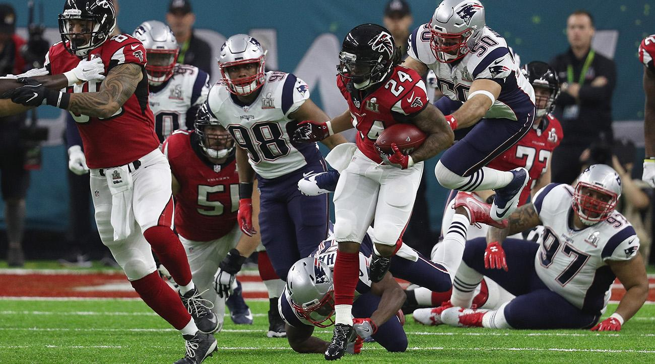 Devonta Freeman touchdown was the first in Super Bowl LI for the Falcons against the Patriots.