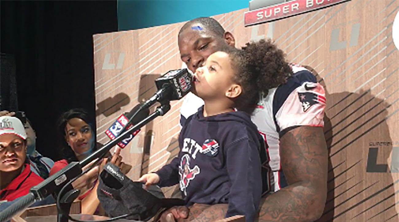 martellus bennett daughter jett super bowl