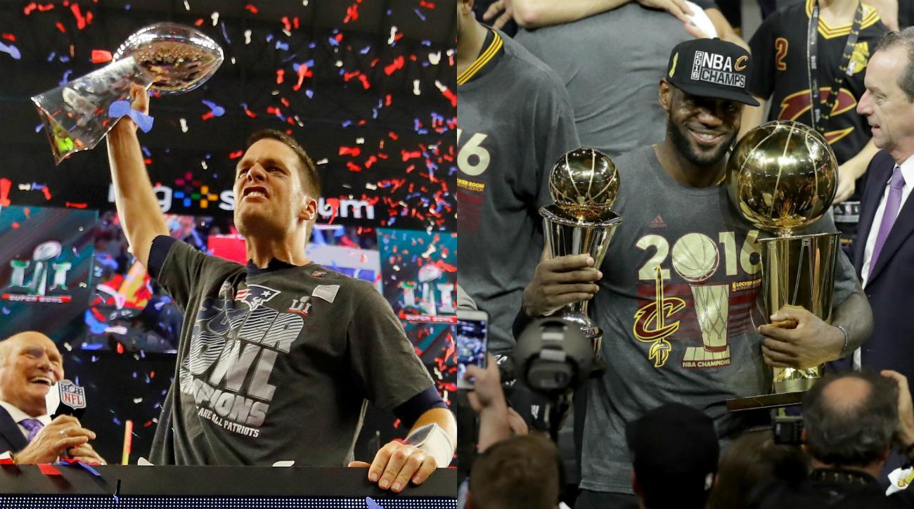 Tom Brady LeBron James Says Patriots QB Is Greatest Ever