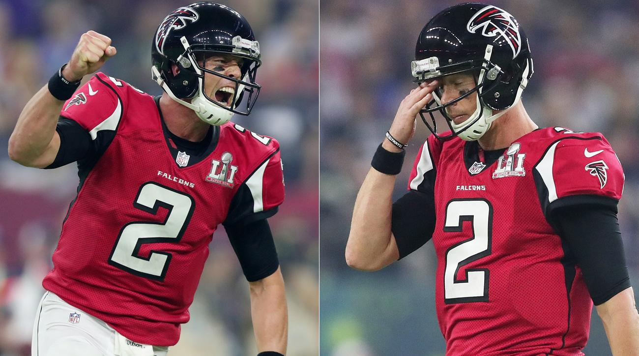 Matt Ryan and the Falcons were tantalizingly close to the franchise's first Super Bowl win before losing in excruciating fashion.