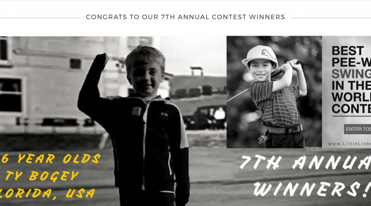 The winners get a prize pack that includes a brand-new set of golf clubs from U.S. Kids.