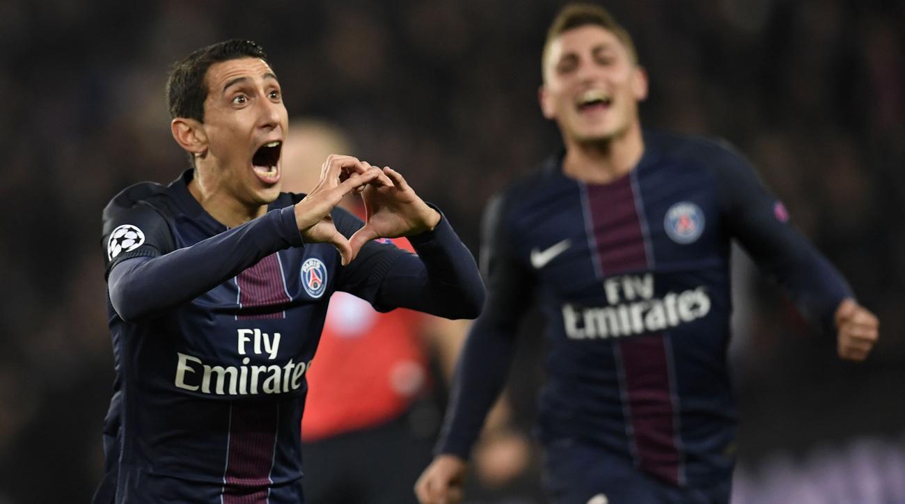 Angel Di Maria scores for PSG vs. Barcelona in Champions League