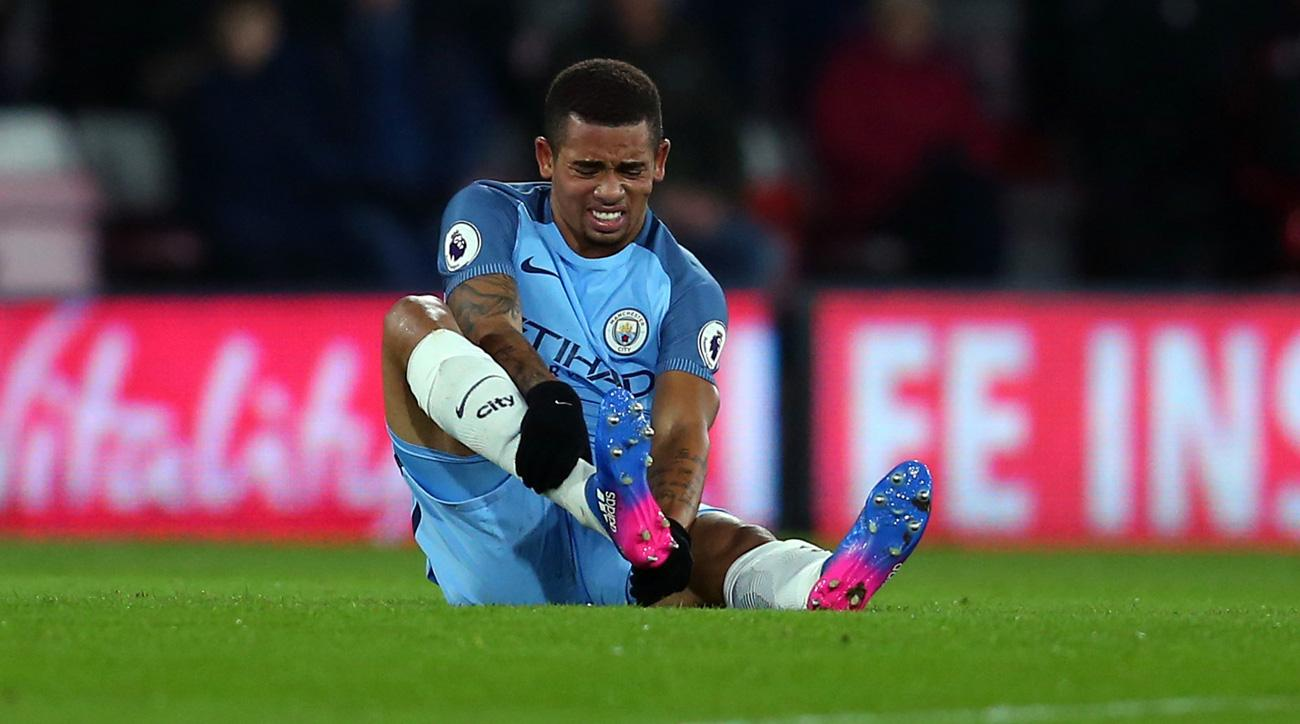 Gabriel Jesus will miss time for Manchester City