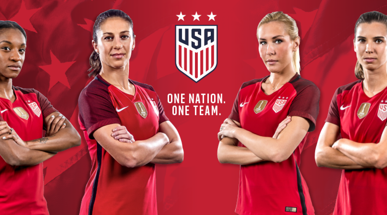 New Us Soccer Jersey All Red Uniform For Usmnt Uswnt