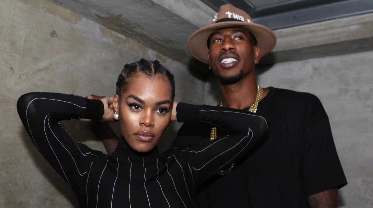 Iman Shumpert got married in front of the bathroom where he delivered his first daughter.