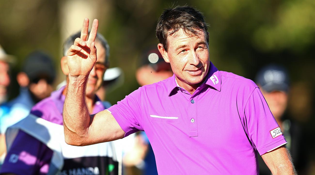 Brett Rumford captured his first win on the European Tour since 2013.