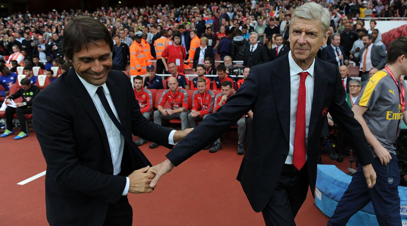 Chelsea manager Antonio Conte and Arsenal manager Arsene Wenger
