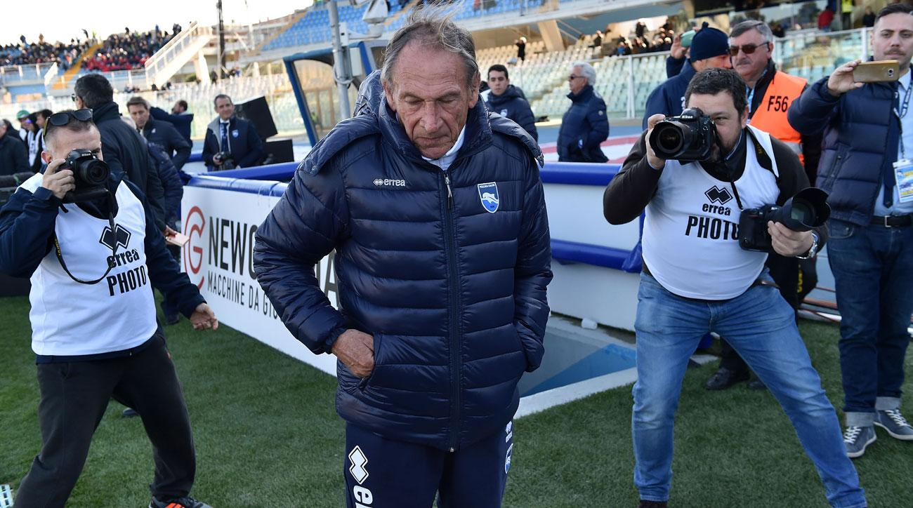 Zdenek Zeman is back managing at Pescara