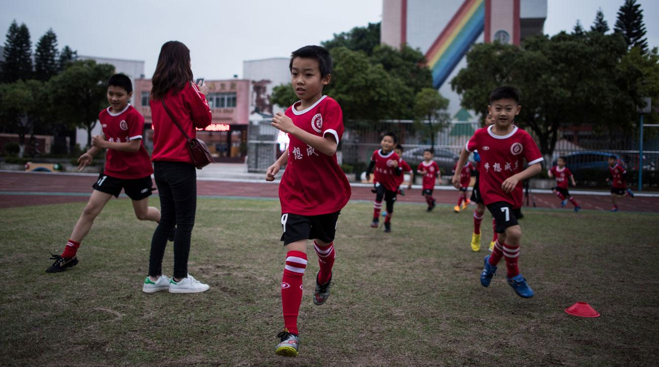 China has an ambitious plan for soccer academies