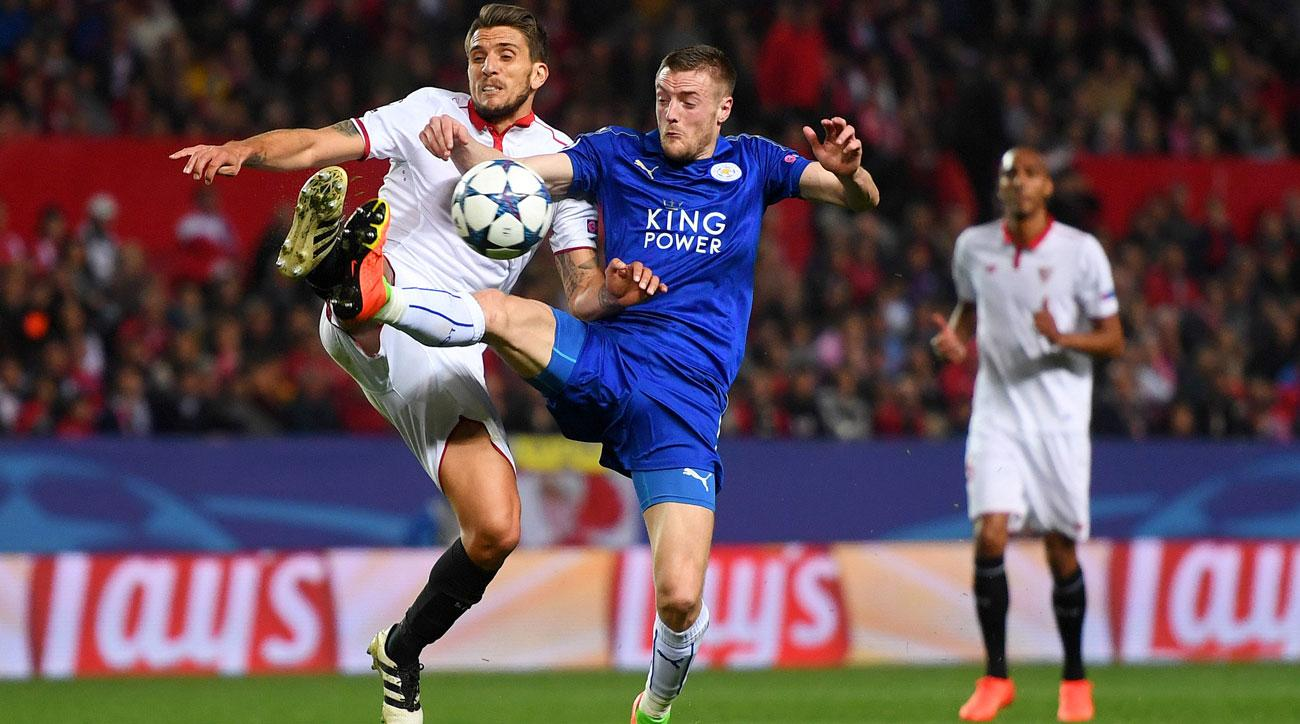 Jamie Vardy and Leicester still have life in the Champions League against Sevilla