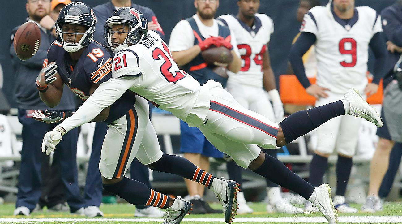 Texans cornerback A.J. Bouye was credited with 16 passes defensed in 2016.