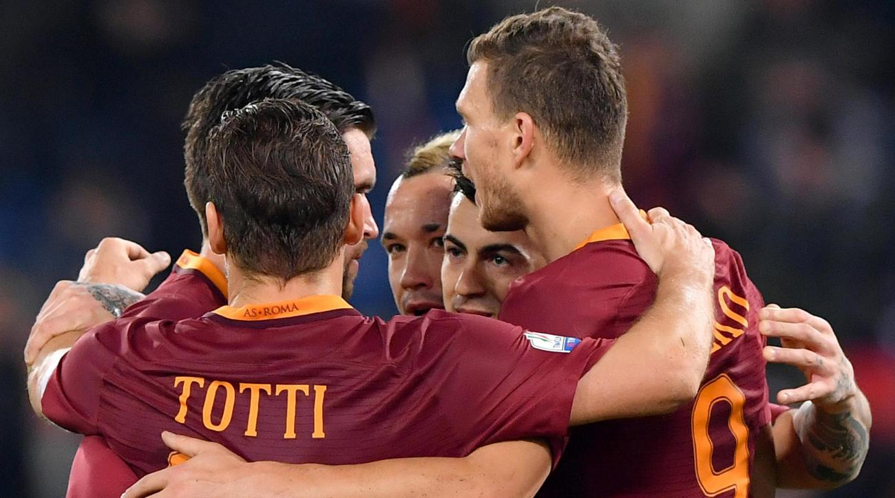 Roma beat Villareal 4-0 in the first leg of the Europa League round of 32 matchup.
