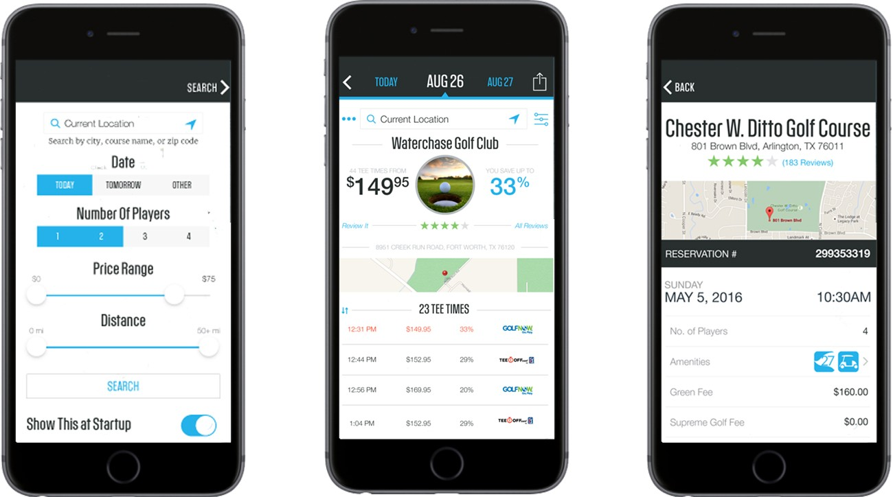 With the new GOLF Tee Times app, the lowest tee-time rates are just a couple of clicks away.