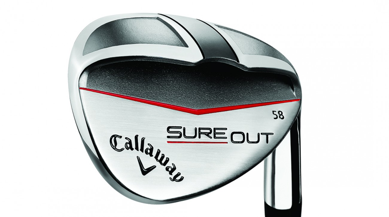 The Callaway Sure Out allows golfers to play bunker shots with a square face, a feature that should give higher handicappers more confidence.