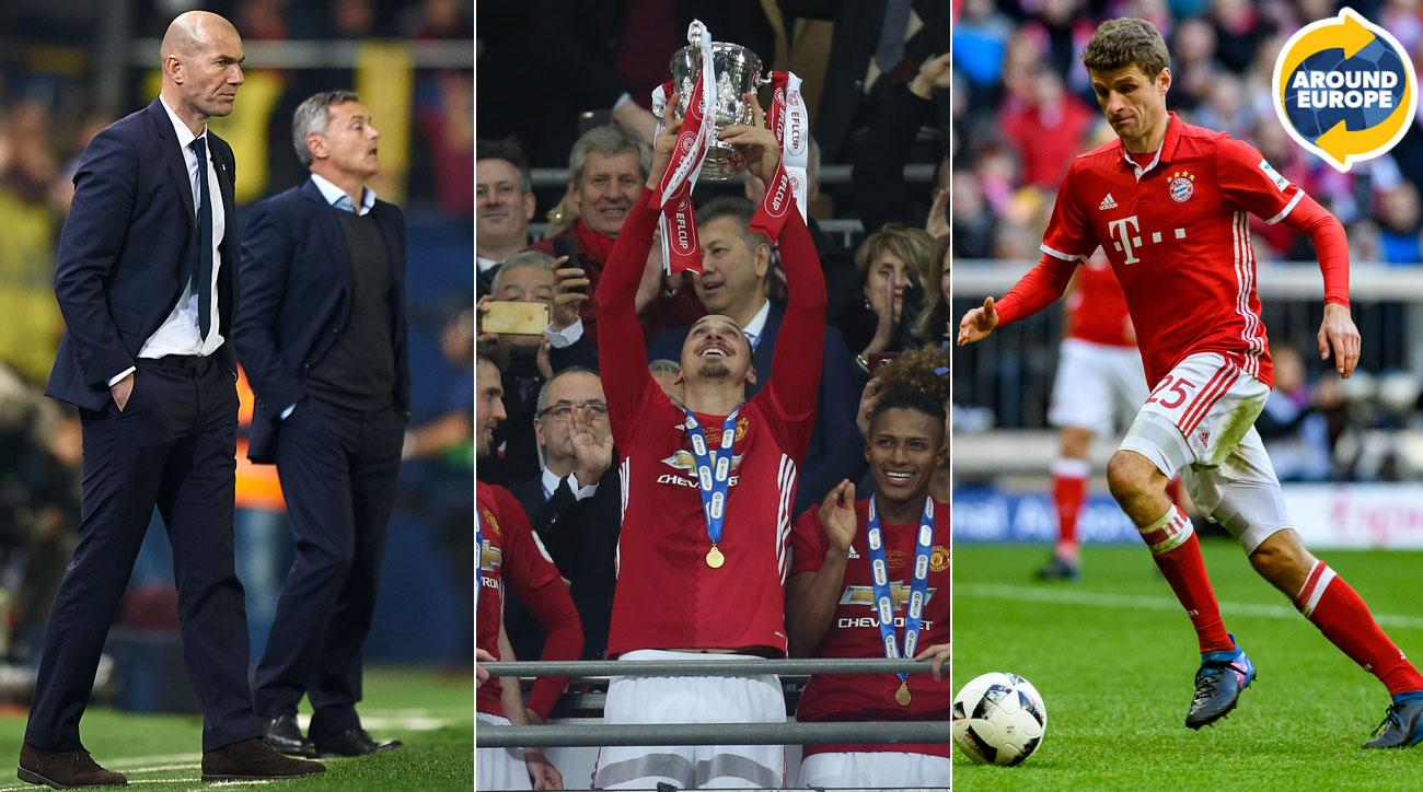 Zinedine Zidane, Zlatan Ibrahimovic, Thomas Muller were the headliners in Europe this weekend
