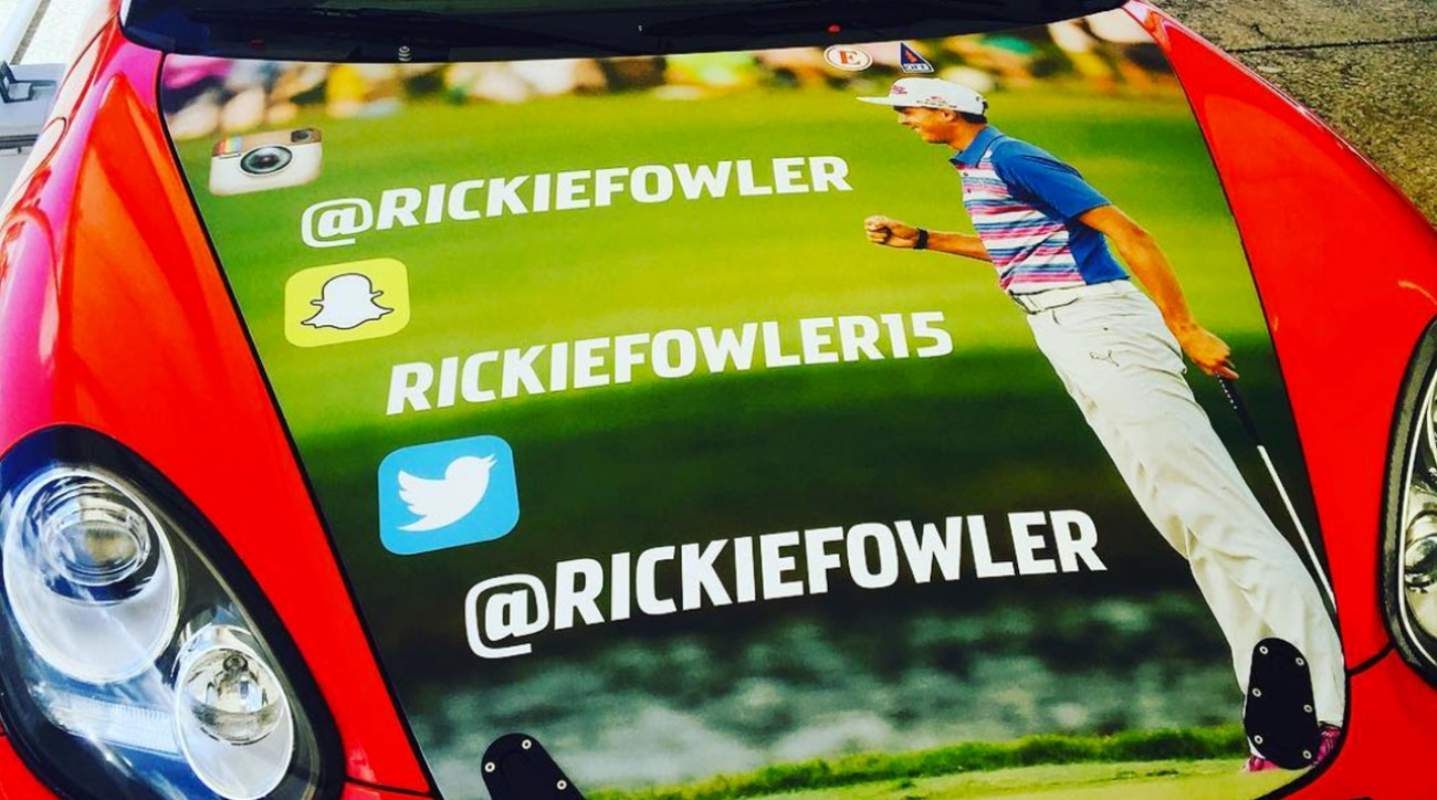 Chances are, Nick Galante's Porsche is traveling too fast for you to jot down Rickie Fowler's social media handles.
